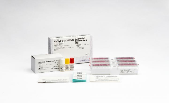Lumipulse G Progesterone-N Immunoreaction Cartridges (295564) and Lumipulse G Progesterone-N Calibrators (230893)